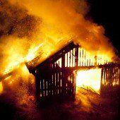 Scheune in Frastanz brennt ab