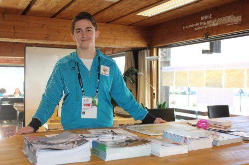 Freundlich begrüßt Manuel Sandholzer die Besucher. Foto: RAL