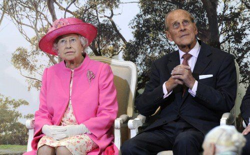 Königin Elizabeth II. und Prinz Philip. Foto: AP