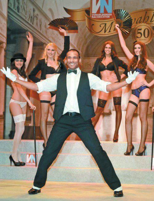 Männliche Unterstützung für die Misswahl-Teilnehmerinnen gab es von Dressman und Tänzer Anthony Griffith.