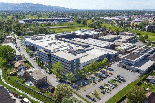 Meusburger ist in Wolfurt stetig gewachsen. Heute beträgt die Gesamtnutzfläche 50.000 m2.  Foto: Meusburger