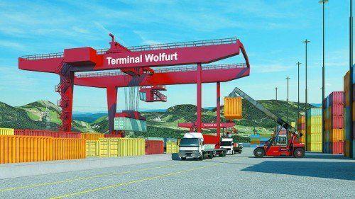 Mit dem Spatenstich startet heute der Ausbau des Terminals Wolfurt auch ganz offiziell. Rendering: ÖBB