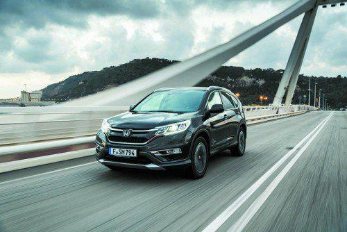 Neuer 1,6-l-Diesel im Honda CR-V: 160 PS, entweder mit Sechsgang-Schaltung oder Neungang-Automatik. Fotos: werk