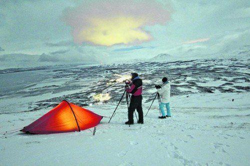 Nordlichter zu jagen erfordert jede Menge Geduld und eine gute Ausrüstung. Foto: Lädtke