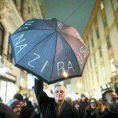 Protestmärsche gegen Rechts