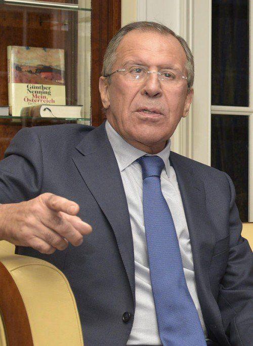 Russlands Außenminister Sergej Lawrow wirft dem Westen vor, antirussische Hysterie zu schüren. Foto: APA