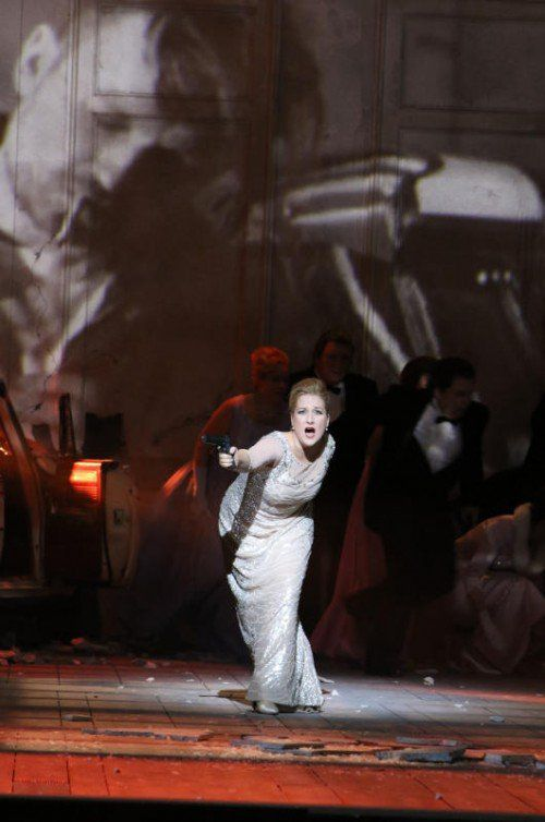 """Sopranistin Diana Damrau begeisterte in der Titelrolle von """"Lucia di Lammermoor"""".  Foto: Staatsoper/Hösl"""