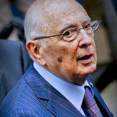 Italien sucht Nachfolger für Präsident Napolitano