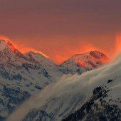 Schöne Stimmung in St. Moritz