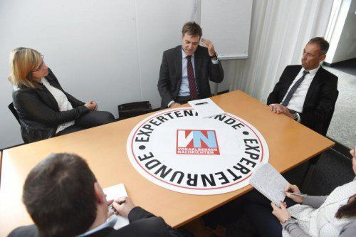 Trafen sich zur Expertenrunde in der VN-Redaktion: Karin Hinteregger, Norbert Baschnegger und Roland Rupprechter. Foto: VN