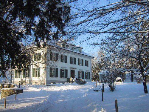 Villa Falkenhorst, Winter, Garten