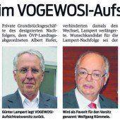 Amtsübergabe im VOGEWOSI-Aufsichtsrat
