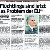 Flüchtlinge sind jetzt das Problem der EU