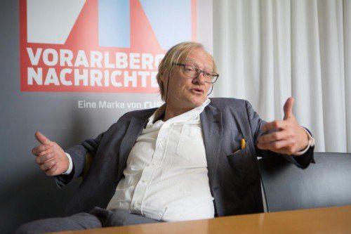 """VN-Gast Michael Diettrich: """"Das Haushalts- und Ordnungsverhalten muss so sein, dass es die Nachbarn nicht stört."""" FOTO: VN/HARTINGER"""
