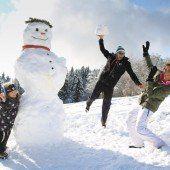 Ehrentag für Männer aus Schnee