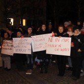 Demo gegen Gewalt an Frauen