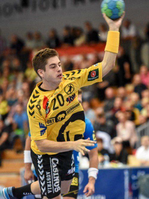 Ante Esegovic erzielte das Siegtor gegen Göppingen. Foto: gepa