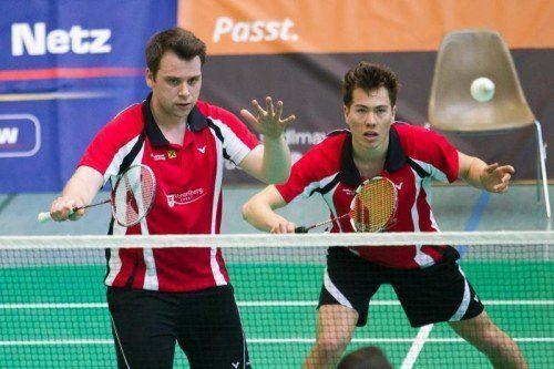 Badminton, 1. Bundesliga, UBSC Wolfurt - AS Mödling, Doppel Moritz kaufmann, Rene Nichterwitz