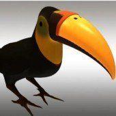 Neuer Schnabel für Tukan aus 3D-Drucker