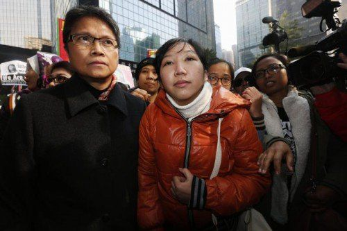 Die erfolgreiche Klägerin Erwiana Sulistyaningsih.  Foto:Reuters
