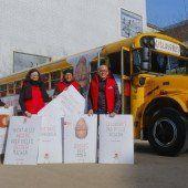 Bregenzer SPÖ im Schulbus auf Wahlkampftour