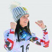 Anna Fenninger legte eine Silbermedaille nach