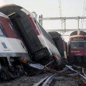 Fünf Verletzte bei Zugunglück
