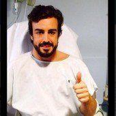 Alonso ist auf dem Wege der Besserung