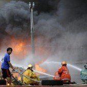 Großbrand in Slumsiedlung