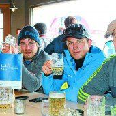 Auch Ted Ligety schmeckt es in der Arlberg Lounge
