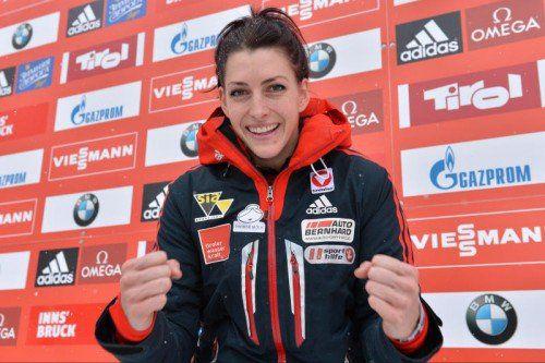 Freute sich über die EM-Silbermedaille: Janine Flock. Foto: ap