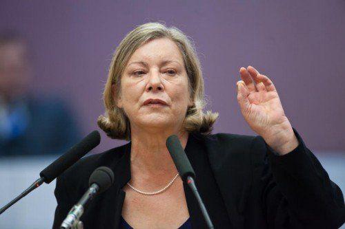 Gabriele Sprickler-Falschlunger (SPÖ) gibt sich in der Debatte kämpferisch. Foto: VN/Steurer