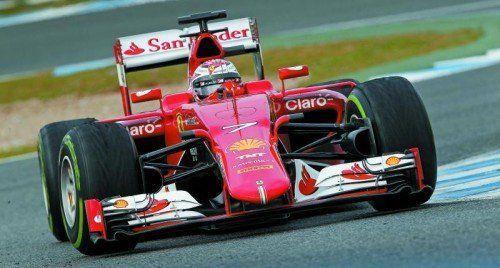 Kimi Räikkönen und Ferrari waren sehr schnell.