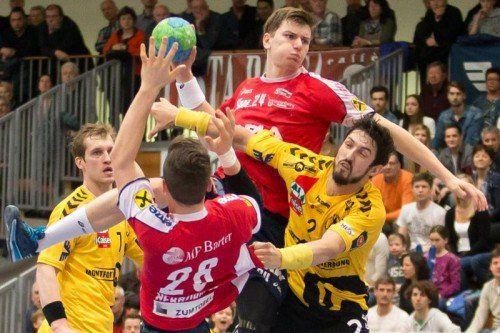 Sport, Handball, HLA, Derby, Handball Liga Austria, Bregenz HB vs. Alpla HC Hard