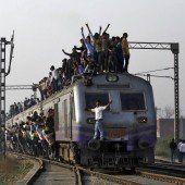 In Indien wird Bahnfahren zur Herausforderung