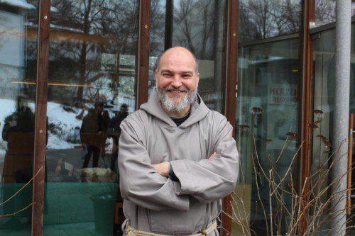 """Pater Paulus Tautz, """"der Mönch aus der Bronx"""", war einer der Gäste des Theologischen-Berufsinformationsforums in St. Arbogast."""