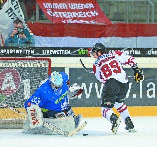 Penalty: Raphael Herburger scheitert an Robert Kristan. Foto: apa