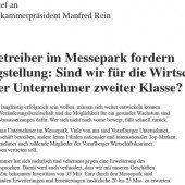 Messepark-Erweiterung: Ton wird nun richtig rau