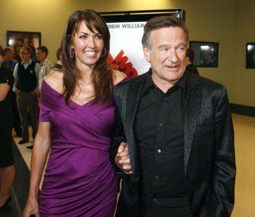 Robin Williams mit Susan Schneider. Foto: Reuters