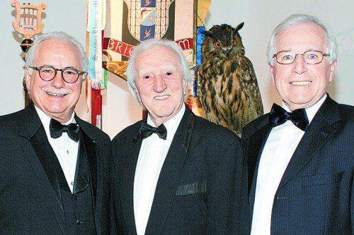 Spitzenvertreter der Schlaraffen: Johann Pirker (l.) sowie Bandleader Burli Baumgartner und Manfred Bliem. FotoS: Franc