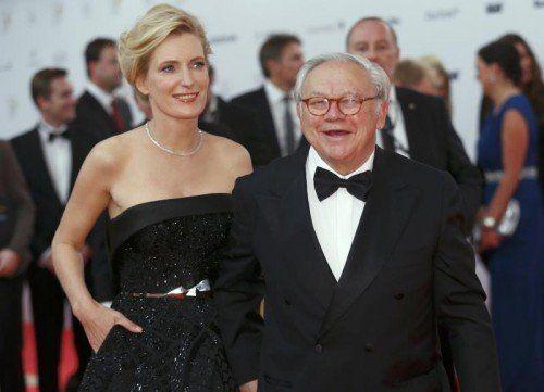 Verleger Hubert Burda mit seiner Gattin, der beliebten Tatort-Kommissarin Maria Furtwängler. Foto: Reuters