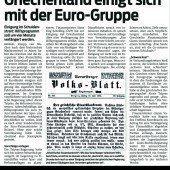 Griechenland und die Euro-Zone