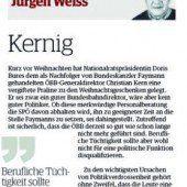 Kommentar von Jürgen Weiss: Kernig