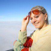 Sonne satt über dem Nebelmeer