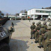 Verabschiedung in den Kosovo