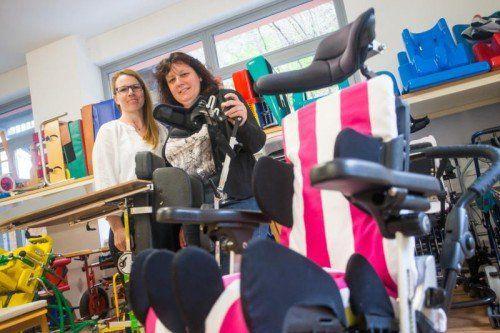 Claudia Pichler (r.) und Christine Hämmerle freuen sich über die neue Unterkunft. Foto: VN/Steurer