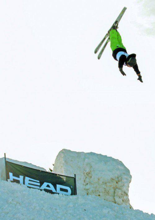 Daniel Hotz holte sich den Meistertitel im Aerials-Bewerb. Foto: privat
