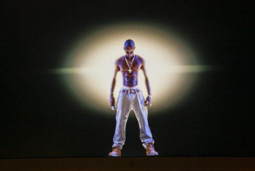 Das Hologramm von Tupac Shakur sah täuschend echt aus. Foto: AP