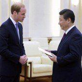 Prinz William stattet China einen Besuch ab
