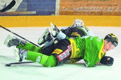 Der EHC Bregenzerwald stolperte im Play-off über einen starken EHC Lustenau. Foto: Stiplovsek